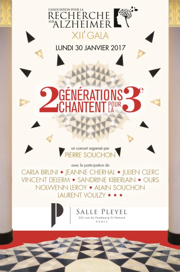 12e Gala de l'Association pour la Recherche sur Alzheimer, le Lundi 30 Janvier 2017 à la Salle Pleyel (Paris)