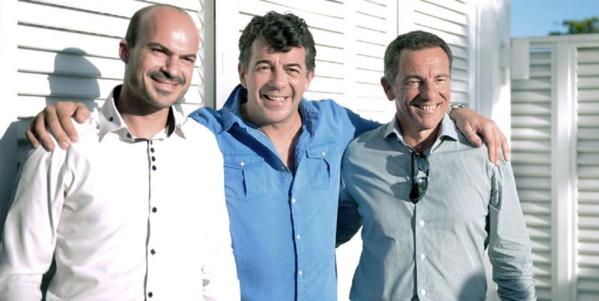 Le directeur de l'IRT Willy Ethève, Stéphane Plaza et le directeur général adjoint d'Air Austral Jean-Marc Grazzini © IRT
