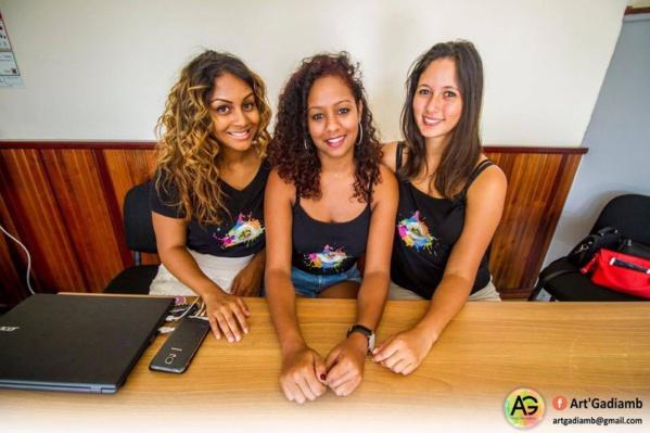 Karen, Adeline, Adèle, organisatrices du concours
