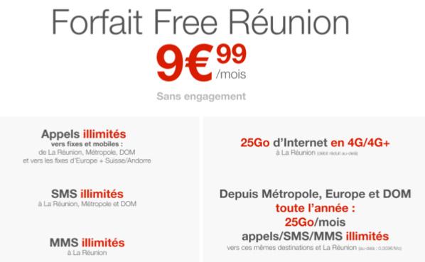 Free arrive enfin à la Réunion et lance le forfait mobile le moins cher de l'île