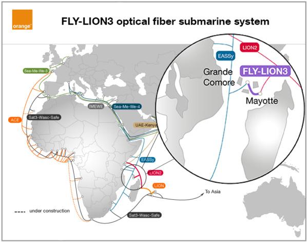 Orange signe un accord pour la construction d'un nouveau câble sous-marin très haut débit entre Mayotte et Grande Comore