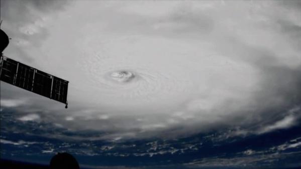 Les images d'Irma vu de l'ISS