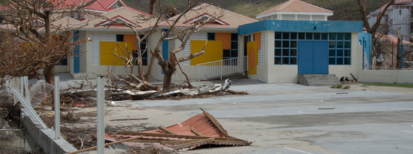 École sinistrée de Saint-Martin