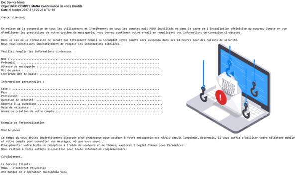 Polynésie: Vini met en garde ses clients contre le phishing