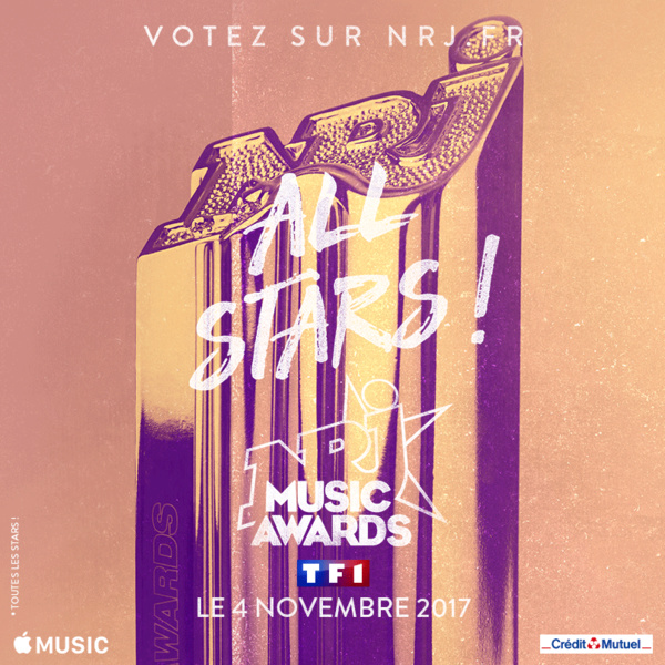 Les NRJ Music Awards en direct le samedi 4 novembre sur TF1