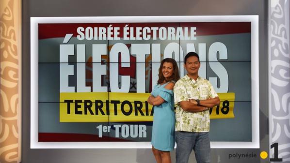 Soirée électorale Élections territoriales 2018 sur Polynésie la 1ère