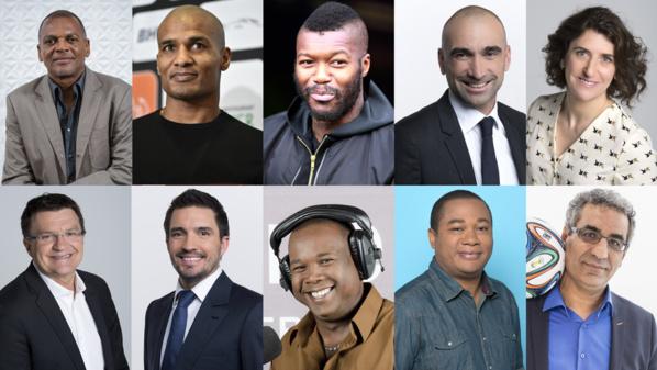 L'équipe des consultants et journalistes pour la Coupe du monde