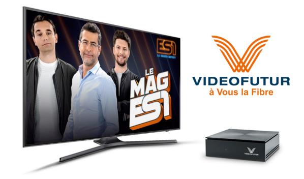 ES1, la 1ère chaîne française eSport disponible dans l'offre Fibre de Videofutur