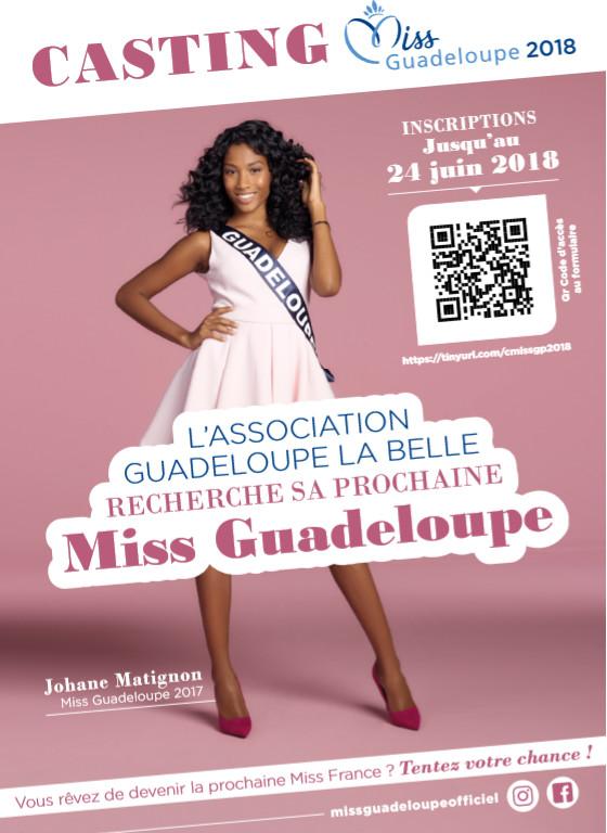Casting 2018 Miss Guadeloupe pour Miss France: Inscriptions jusqu'au 24 juin