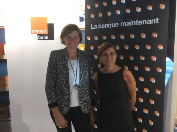 Sur la Photo: Christelle Pechier, Directrice Marketing Paiements et Service Financiers Mobiles et Mireille Helou, Directrice Orange Réunion Mayotte © Megazap.fr