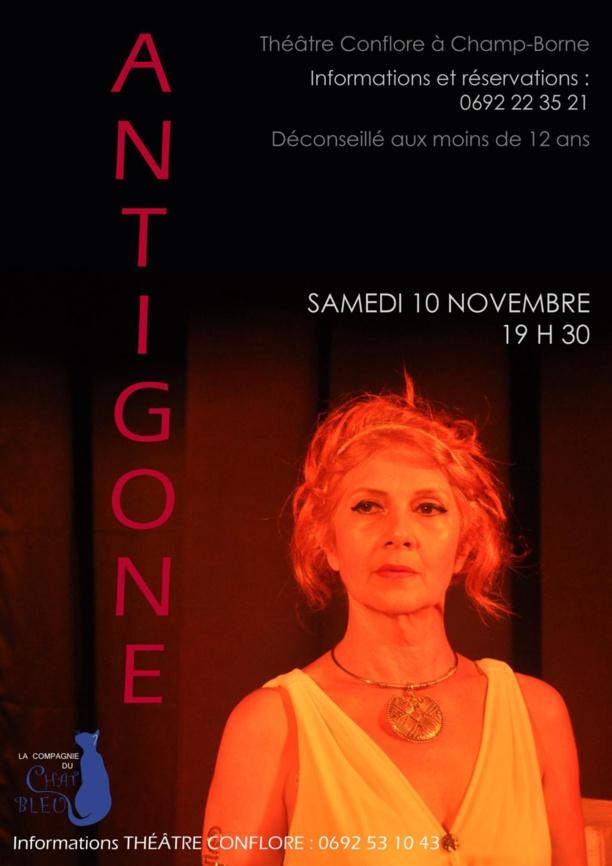 Spectacle: ANTIGONE, par la Compagnie du Chat bleu, le samedi 10 novembre au Théâtre Conflore à Champ Borne