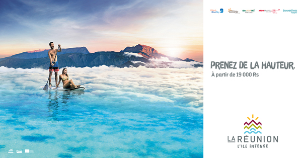 La destination Réunion s'affiche à l'île Maurice