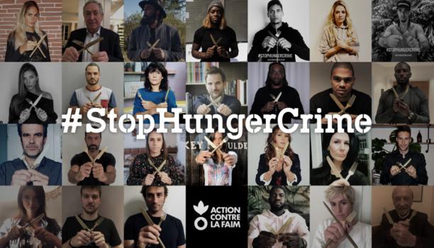 Des personnalités se mobilisent pour dénoncer l'utilisation de la faim comme arme de guerre aux côtés d'Action Contre la Faim