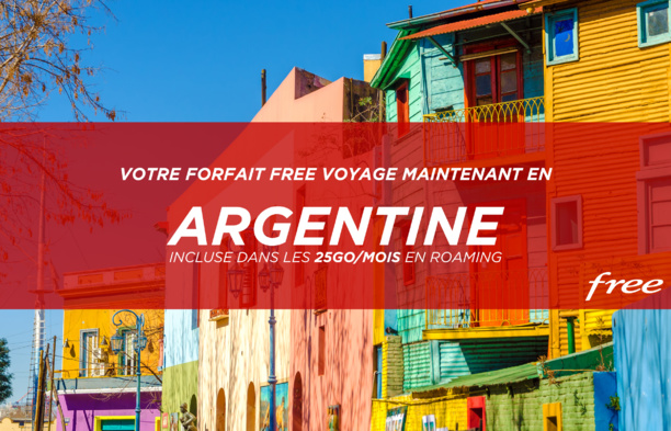 Forfait Free : l'Argentine incluse dans les 25Go/mois de data en roaming
