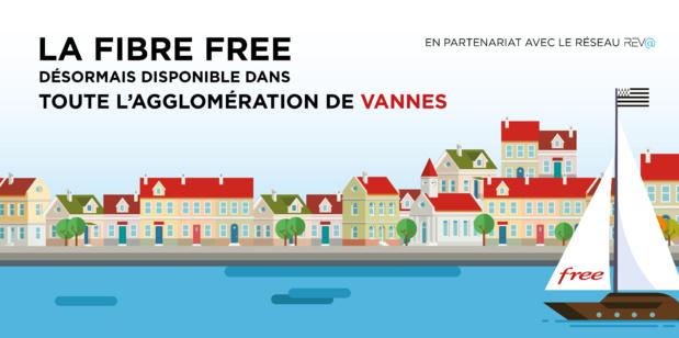 La Fibre Free désormais disponible dans toute l'agglomération de Vannes