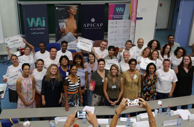 Les gagnants du Startupweekend O Feminin