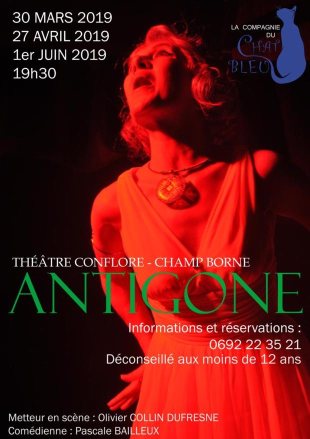 La Réunion: La compagnie du chat bleu présente sa dernière pièce de théâtre ANTIGONE au théâtre du Tampon et de Saint-André