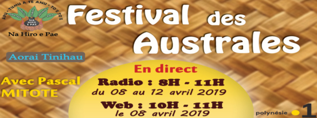 Festival des Australes en direct sur Polynésie La 1ère Radio