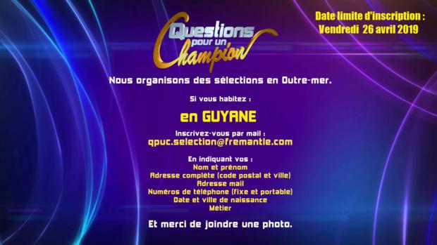 """""""Questions pour un Champion"""" recherche des candidats Guyanais"""