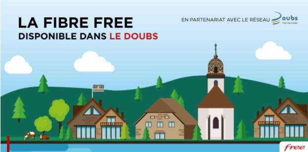 La fibre Free désormais disponible dans le Doubs
