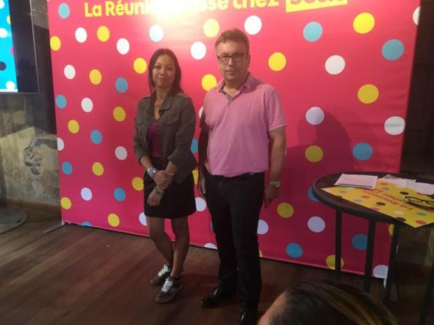 Sur la photo:  Jean-Marc Escalettes, nouveau directeur général d'Orange Réunion-Mayotte et de Geneviève Hoarau Hoch, porte parole de Sosh © Crédit Photo: Megazap.fr