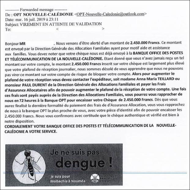 OPT: SMS & Mail frauduleuses en cours en Nouvelle-Calédonie