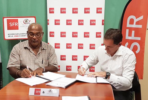 SFR Caraibe signe un accord avec la mairie de Saint-Joseph pour le déploiement de la Fibre Optique