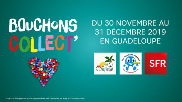 """Guadeloupe: SFR soutient l'opération de collecte de bouchons en plastique """"Bouchons Collect'"""""""
