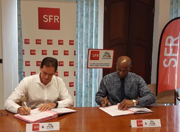 Martinique: La mairie de Sainte-Marie et SFR signent un accord sur le déploiement de la Fibre Optique