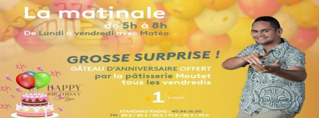 """""""Grosse surprise"""" ce vendredi dans la matinale sur Polynésie La 1ère"""