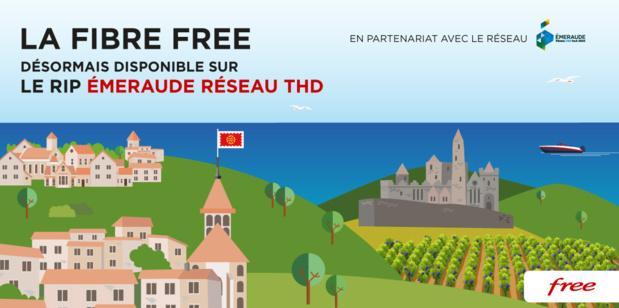 La Fibre Free désormais disponible sur le RIP EMERAUDE Réseau THD