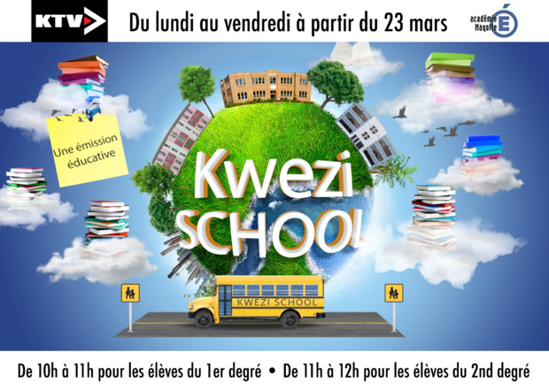 """Mayotte: Kwezi TV en partenariat avec le rectorat lance dés le 23 mars l'émission éducative """"Kwezi School"""""""