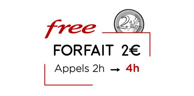 Forfait mobile 2€/0€: Free offre 2 fois plus d'heures d'appel à ses abonnés