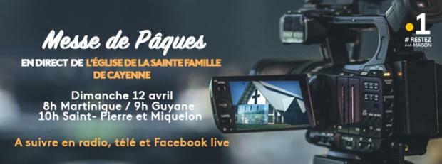 Messe de Pâques en direct de l'Eglise de la Sainte Famille de Cayenne, ce dimanche sur La 1ère et KTV