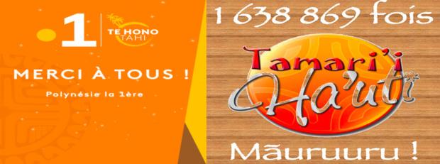 """Polynésie: Succès pour le concert """"Tamari'i Ha'uti"""", plus de 1 612 869 FCFP recueilli"""
