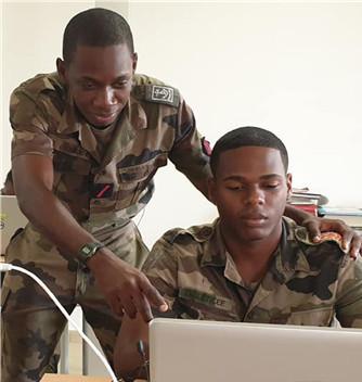 Le RSMA de Guadeloupe innove pour l'inclusion numérique avec SIMPLON