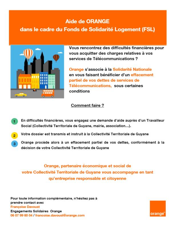 Guyane: signature d'une convention CTG – Orange pour le maintien des télécommunications dans les foyers en difficulté financière