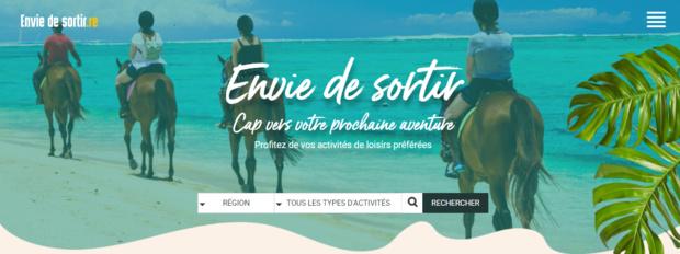 www.enviedesortir.re, la nouvelle plateforme de communication développée par SFR pour soutenir les acteurs de l'économie touristique locale
