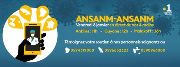La 1ère: L'émission solidaire Ansanm-Ansanm rend hommage ce vendredi aux personnels soignants