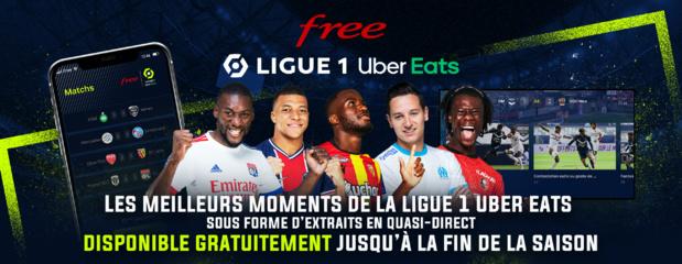 L'application Free Ligue 1 Uber Eats continuera d'être accessible gratuitement jusqu'à la fin de la saison 2020-2021