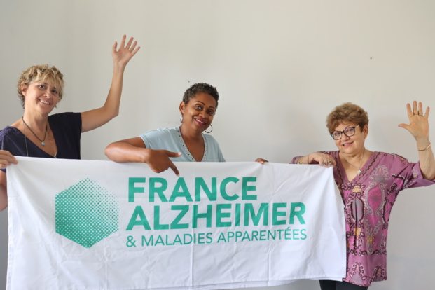 L'équipe de France Alzheimer - Sylvie Agnez, Odile Payet et Gabrielle Fontaine