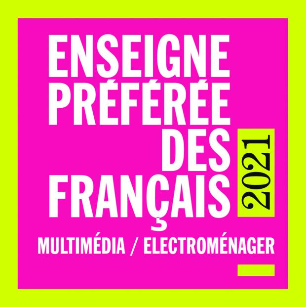 """Amazon, Enseigne Préférée des Français en 2021 dans les catégories """"Multimédia / Électroménager"""" et """"Produits culturels"""""""