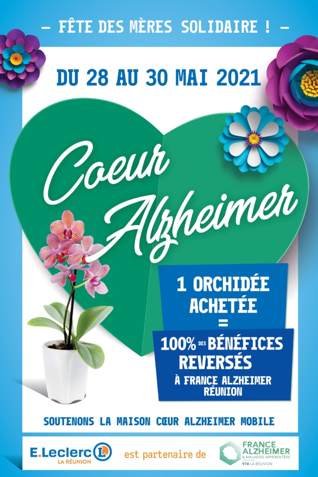 Maison cœur Alzheimer mobile, Achetez une orchidée pour une belle cause !