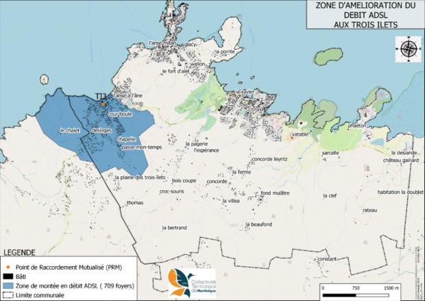 Martinique: Montée en débit ADSL aux Anses d'Arlet et aux Trois-Ilets