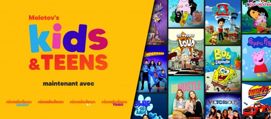 "Molotov enrichit son offre ""Kids & Teens"" avec les chaînes Nickelodeon"