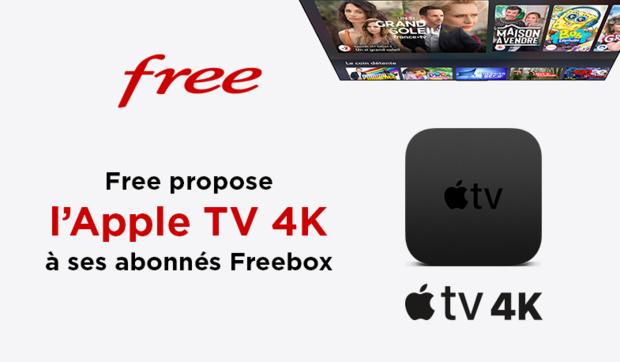 Free propose l'Apple TV 4K à ses abonnés Freebox