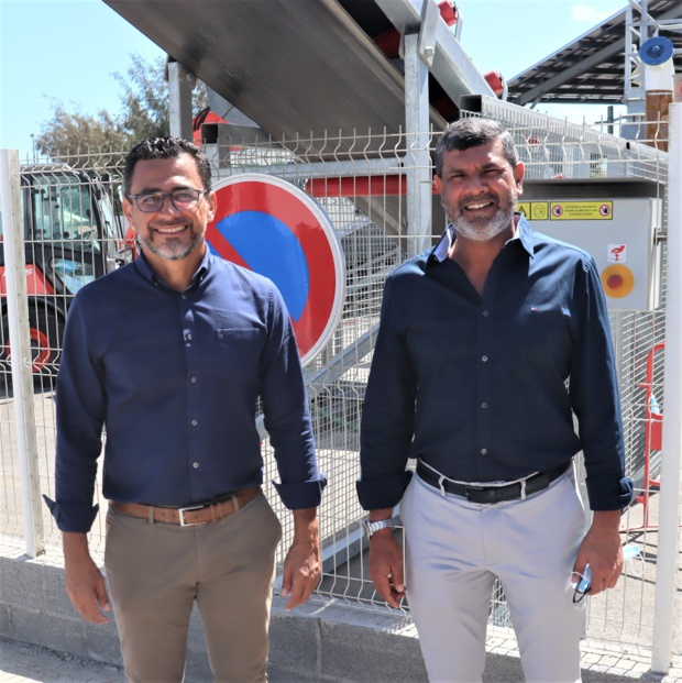 Olivier Hoarau, maire du Port et Abdoullah Ravate,P.-D.G de Ravate Pro