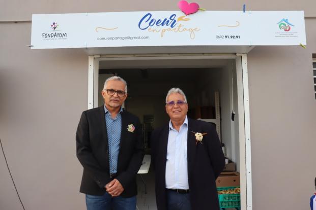 Loqman Mooland PDG du groupe Transport Mooland et Gilbert Babef, Président de l'association C.L.E.F.