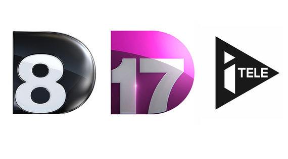 Les chaînes D8, D17 et iTELE vont devenir C8, C17 et CNews !