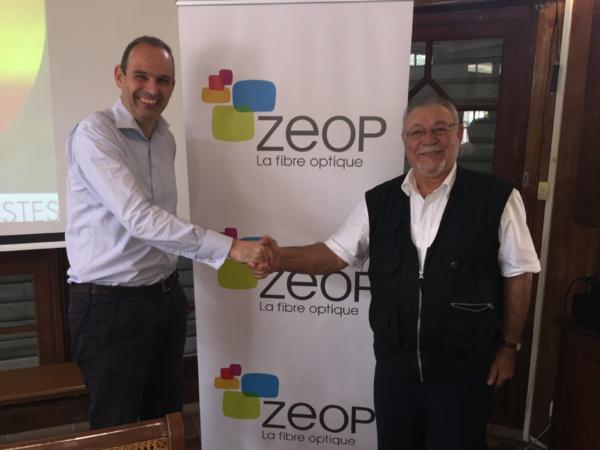 ZEOP: La fibre à la Plaine des Palmistes d'ici 18 mois